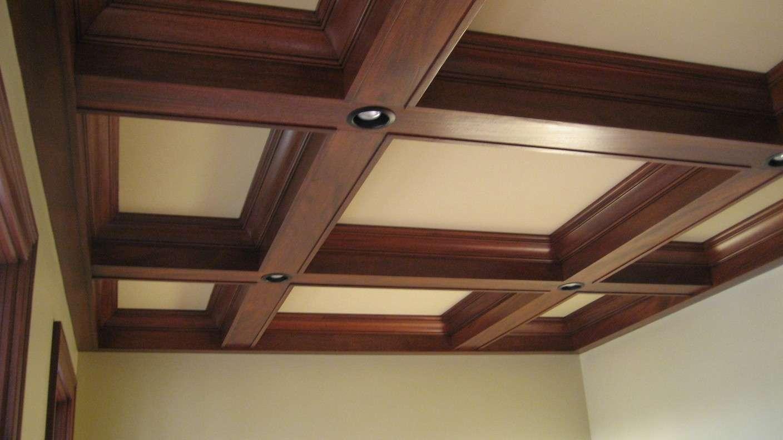 انواع مدل های سقف کاذب - سقف کاذب کدکنسقف کاذب چوبی